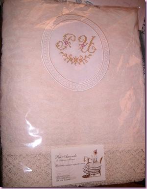 ovale - asciugamano con trina PU 1