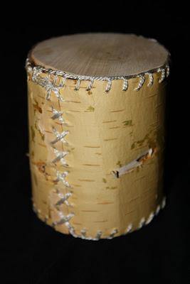 cutie din coaja de mesteacan
