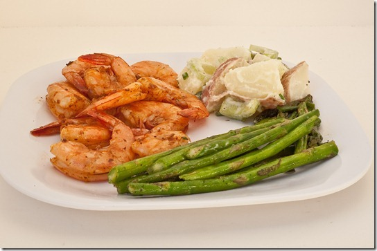 grilled shrimp with lemony potato salad-036