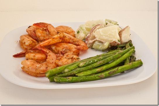 grilled shrimp with lemony potato salad-036