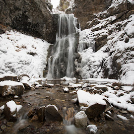 Adam's Canyon by Givanni Mikel - Landscapes Waterscapes ( water, winter, snow, waterfall, adam's canyon )
