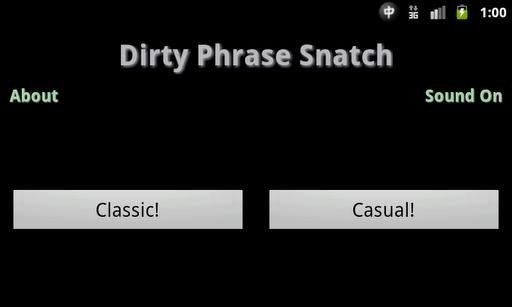 Dirty Phrase Snatch