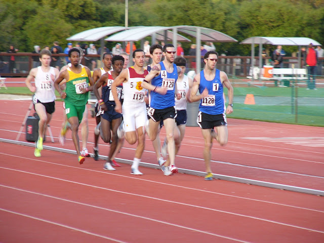 Runners in the mens 1500 meters at the Stanford Invitational, March 26, 2010