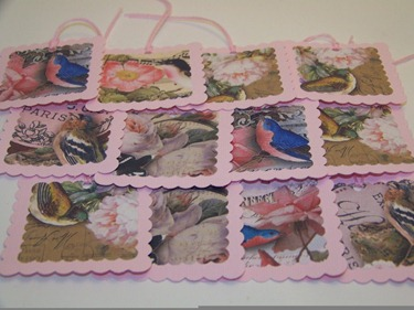 Bird Tags - Small Pink Full Shot