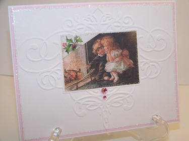 Card -Pink and White Christmas 1