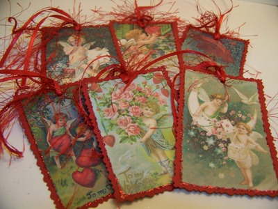 Valentine Tags 1 - Red - Full View