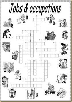 crosswords professions