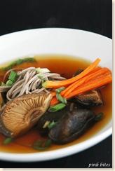 soba shitake soup 3