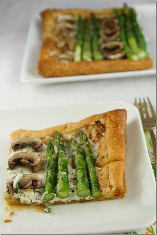 asparagus tart slice