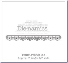 SMFaux Crochet Border Die-namics