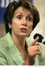 Nancy Pelosi - ear plugs please!