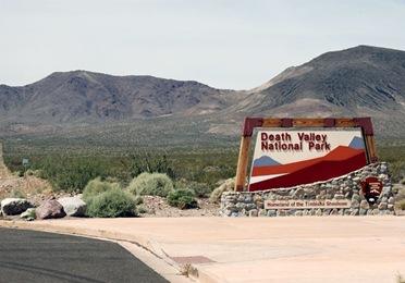 Death Valley Entrance Sign