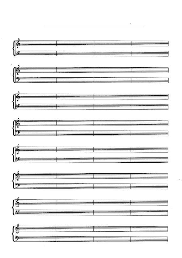blank piano sheet