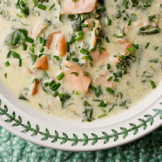 Smoked Salmon Cream Cheese Soup