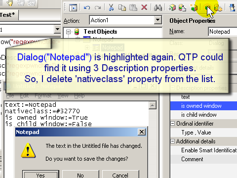 QTP DP (Descriptive Programming) screenshot