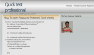 Mohan Kumar Kakarla's QTP blog