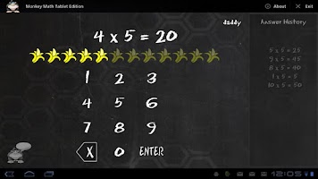 Screenshot of Monkey Math Tablet Edition