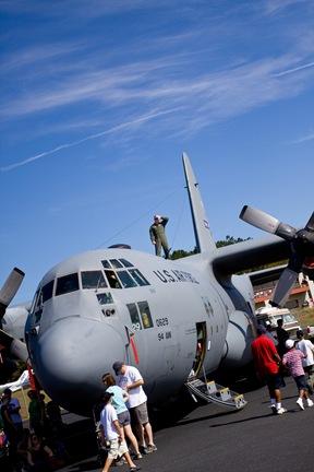 C-130, crew chief on top