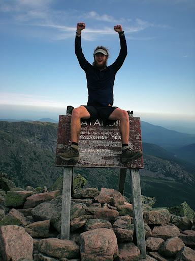 Matt on Katahdin at the end of the Appalachian Trail