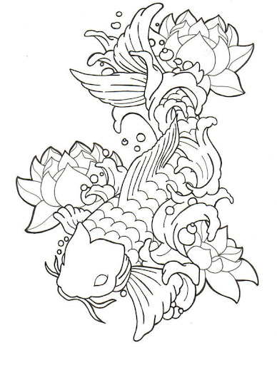 koi tattoo designs. koi fish tattoo design.