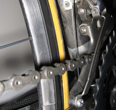 Rear wheel close-up