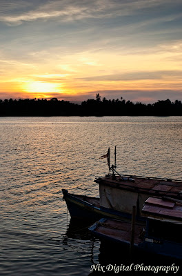 kota bharu, riverfront, sunset