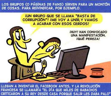 Los grupos o paginas de fans de Facebook.
