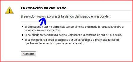 Ataque a las webs Así se vio la pagina de juventudes socialistas