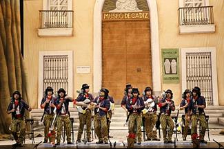 chirigota:Los Joaquín Pamplina, cantautor de la Plaza Mina