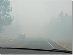 Driving thru fire