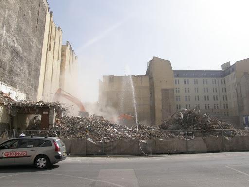 9. kerület, Budapest, Lónyay út, market, Holiday Inn Express, szállodaépítés, bontás,  környezetszennyezés