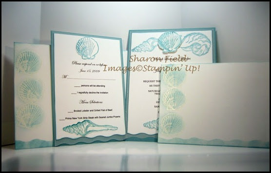 Created By You More Sea Shell Custom Wedding Invitations