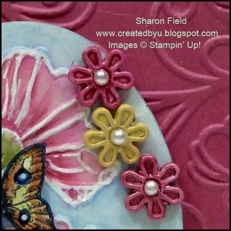 SFF0506, SharonField, Created by You, Flower Brads, Champagne Shimmer Paint
