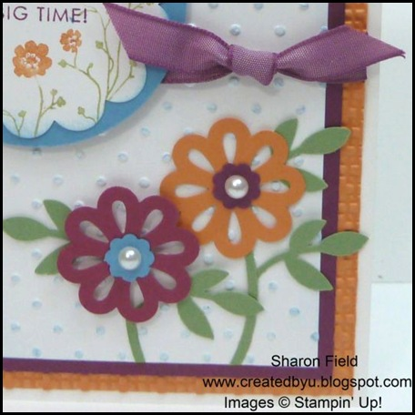CS32C, Sharon Field, Created By you, Triple Blossom Punch, Embossing