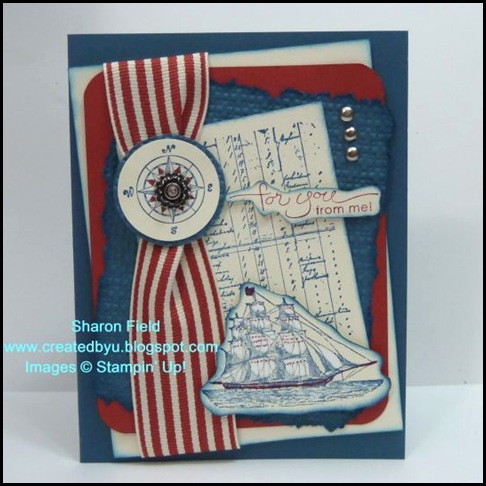 The Open Sea, Summer Mini Catalog, Stampin Up, Square Lattice, Big Shot, Sharon Field, Created by You