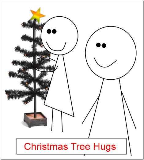 christmas tree hugs