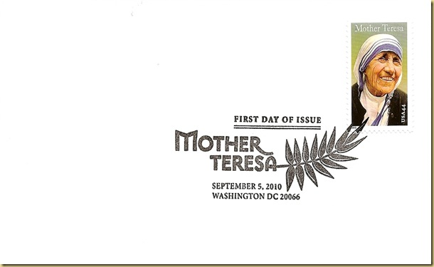Mother Teresa_First Day Cover with cancellation
