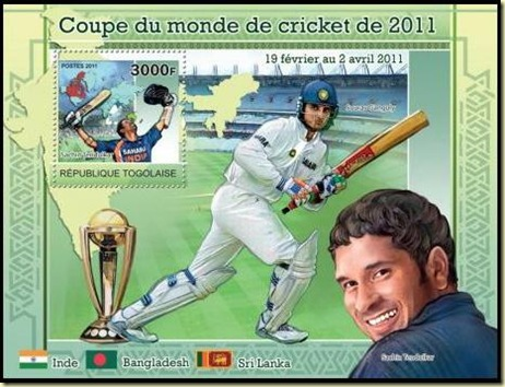 Togo Cricket Stamps