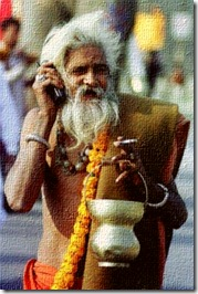 FotoSketcher - kumbh-sadhu_with_mobile_phone-afp