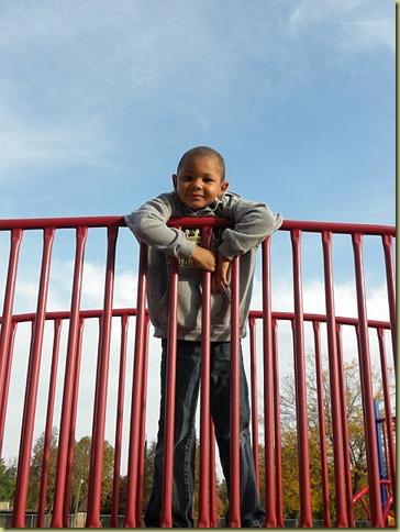 Jordan at park with Judie