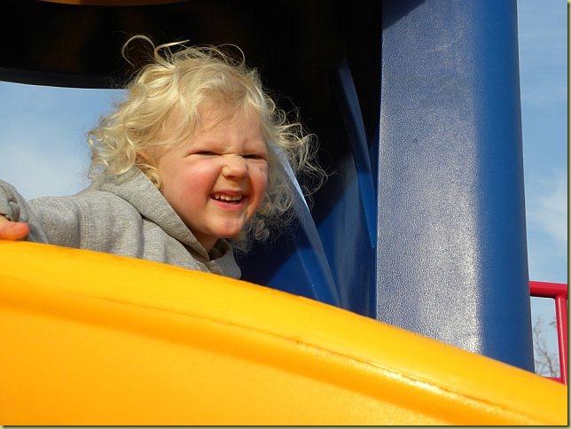 Nevaeh at park with judie #2