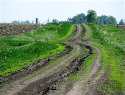 Ruts like these are exactly what the engineer's office are trying to prevent.