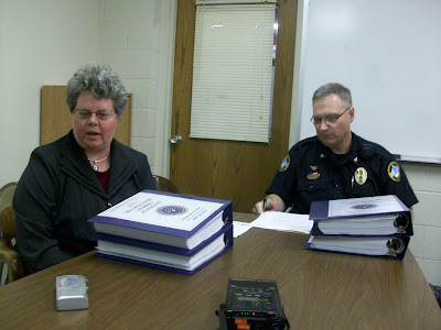 Washington County Attorney Barb Edmondson, and Washington Police Chief Greg Goodman answer questions about the Blankenship investigation Friday, April 16, 2010 (KCII NEWS)