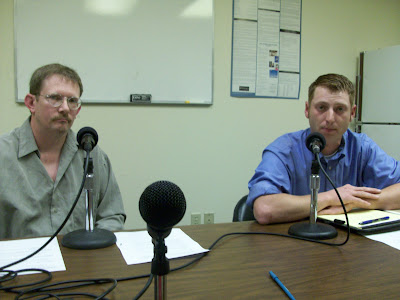 Chris Canny (Left) and Jarad Klein take questions from KCII during a candidate's forum. The two will meet in next month's primary. The winner will face Democratic Incumbent Larry Marek for the House Seat in Southeast Iowa's District 89