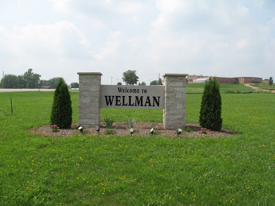 Welcome Sign in Wellman
