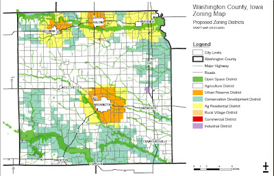 The most recent zoning map available on Washington County's website