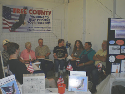 Free County Getting Information Out At The Washington County Fair.<br /> (Free County)