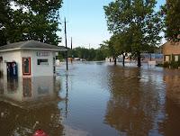 Flooding in Wellman 8-3-10 (KCII's Bill Gatchel)