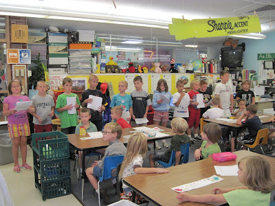 Mrs. Schilb's 2nd Grade Class Performed The Reader's Theater Play &quot;Who Needs Rules?&quot; To Kindergarteners Friday.<br /> (Crystal Wright)