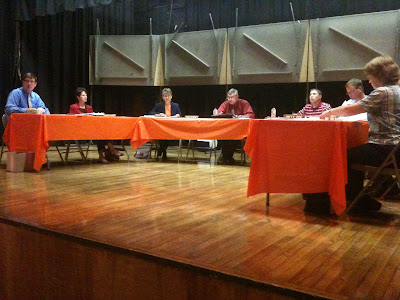 The Washington School Board Met Wednesday Night In the High School Auditorium, Not The Administration Building.<br />